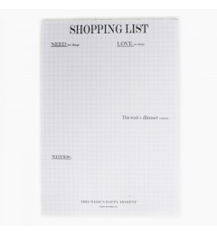 Bondep Shoppinglist blokk