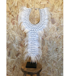 Feather Necklas on Stand