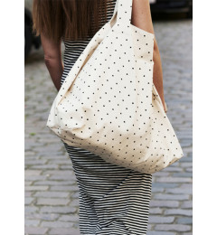 moshi moshi mind  Big dot shopper ecru/black