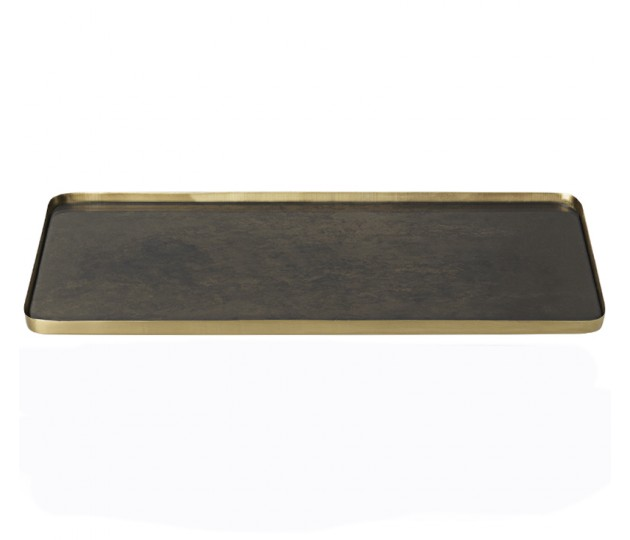 COZY ant platter, brown L
