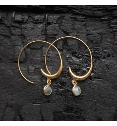 Enough Chanh earring - labradorite
