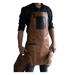 Stuff Apron pull-up leather br./bl.