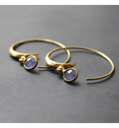 Enough Chanh earring - purple tanzanita