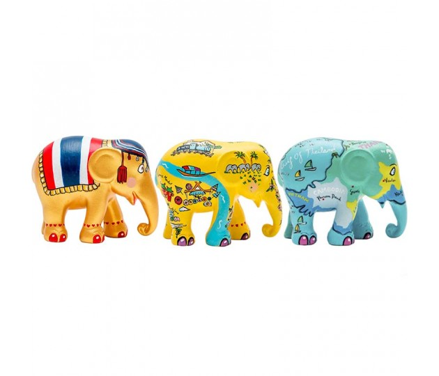 Elephant Parade Thailand Stories multipack 3x7cm