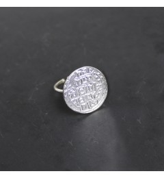 Resa L. Coin ring silver