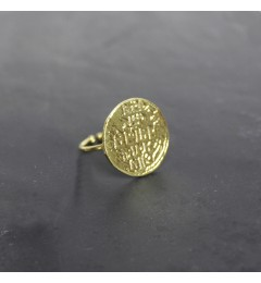 Resa L. Coin ring brass g.plated